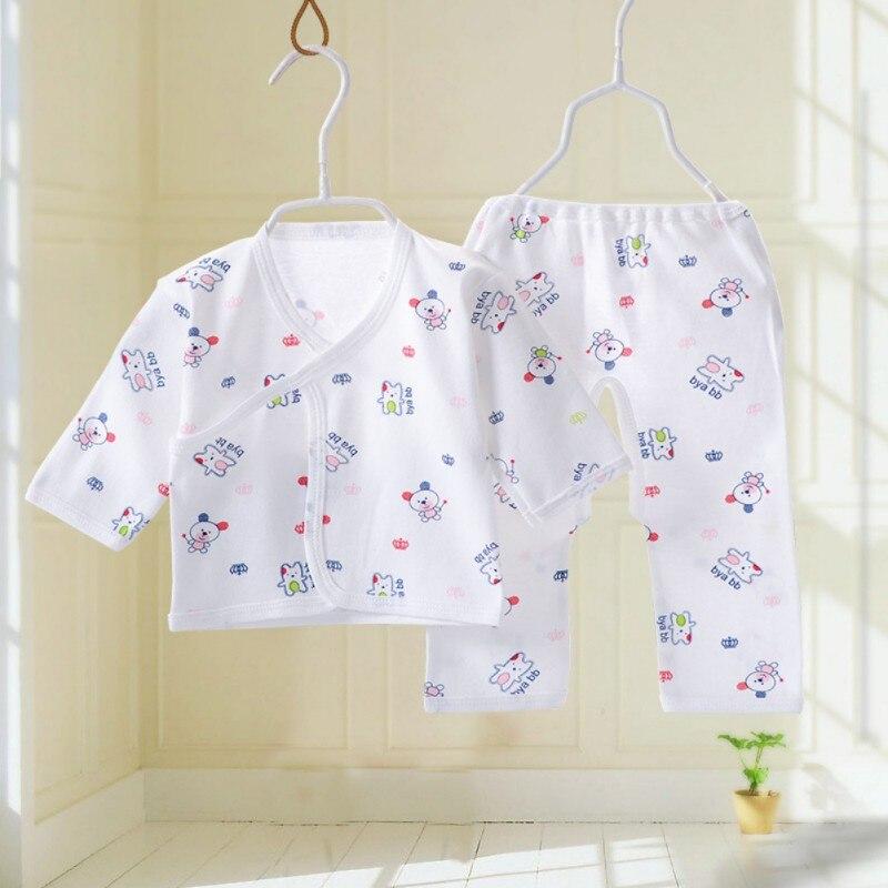 59c7421e3d3faf Niemowlę dziecko bawełniana bielizna piżamy chłopców dziewcząt oddychające  Cartoon zwierząt wzór ubrania