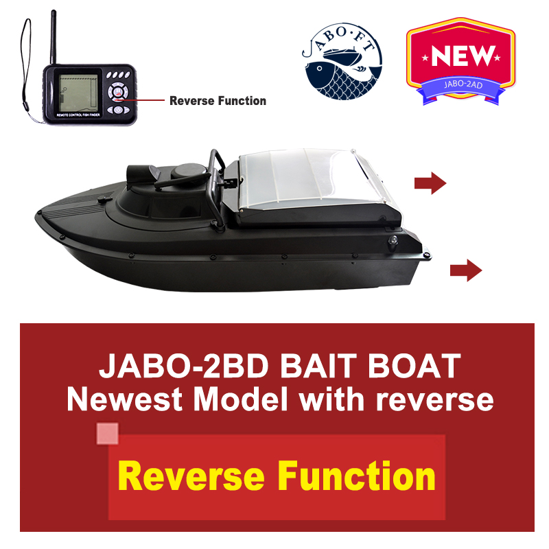 sonar bait boat Jabo optional colors bait boat JABO-2BD rc boat with reverse fishing bait boat fishing tackle free shipping cheap jabo bait boat 2bd 32ah with carrying bag for jabo rc fishing tools