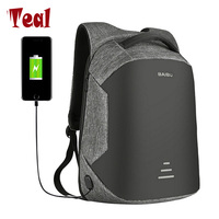 2017 Canvas Men And Women Backpack USB Charging Port Unisex For Laptops School With Anti Theft