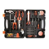 45 Piece Homeowner's Tool Kit General Household Hand Hardware Tool Set Screwdriver,Wrench,Scissors,Claw hammer,Knife,Tape