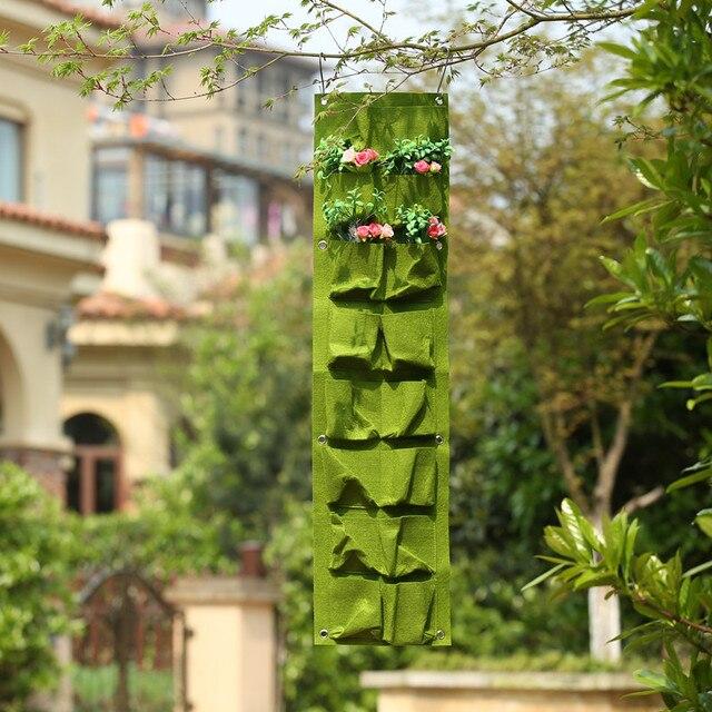 Großhandel 20 Stück 16 Taschen Grün Wachsen Tasche Wandbehang
