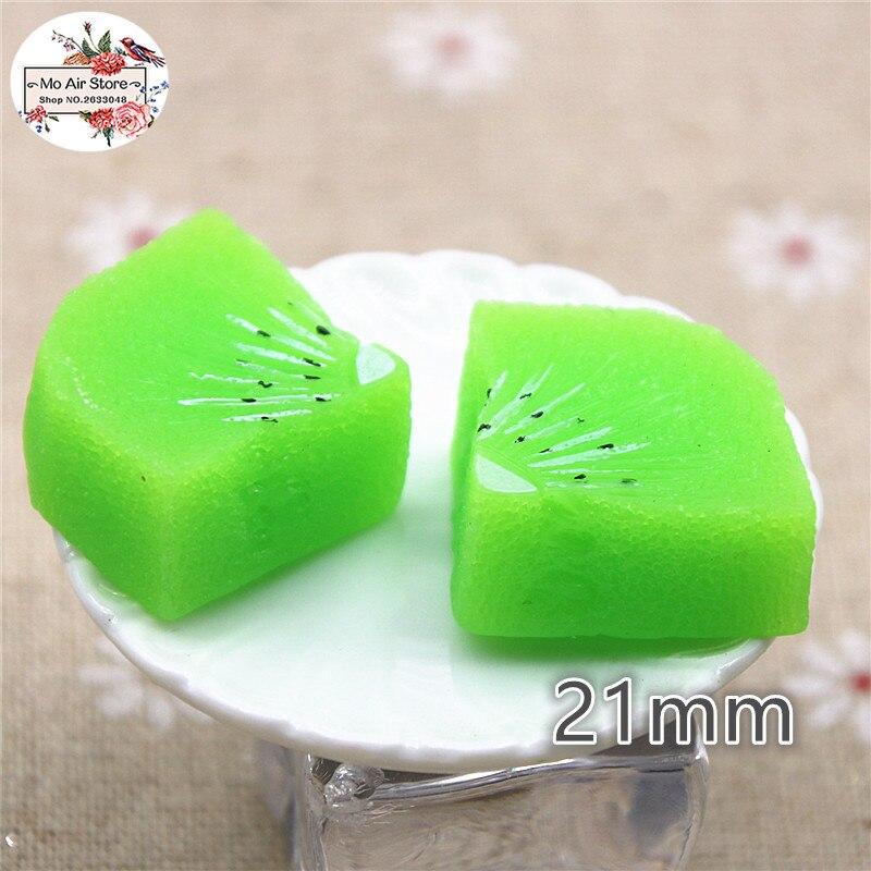 5pcs kiwi fruit slice flatback cabochon embellishments