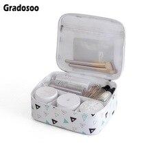 Gradosoo Women Makeup Bag Waterproof Cosmetic For Portable Toiletry Female Large Capacity Travel Organizer LBF585