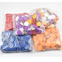 200pcs/bag RFID key fobs 125KHz EM4305 proximity ABS tags read and write rewritable duplicator copier access control