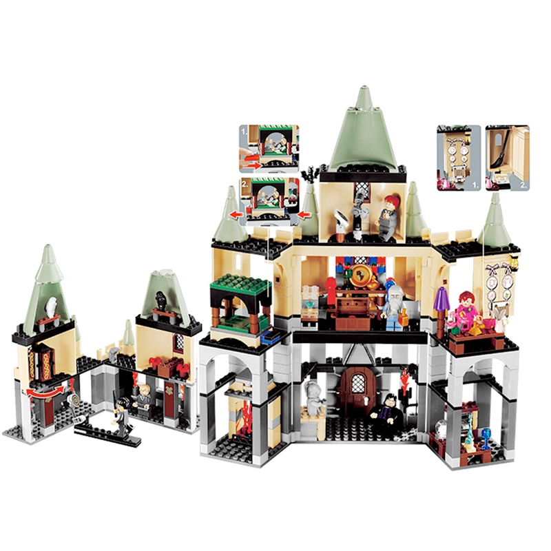 CX 16029 1033Pcs Model building kits Compatible with Lego 5378 Harry Potter Hogwort Castle 3D Bricks figure toys for children