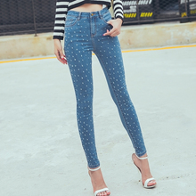 Boyfriend hole ripped jeans women pants Cool denim vintage straight jeans for girl High waist casual
