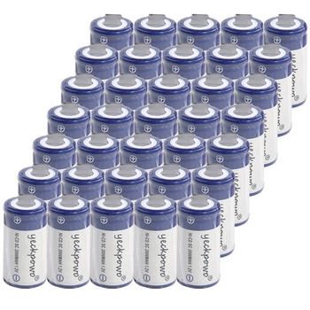 yeckpowo 35 pcs SC batteries power tools battery SUBC rechargeable batterie 2000mah nicd 1.2v color random