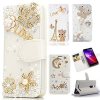 Luxury Diamond Bling PU Leather Wallet Case Cover For Samsung Galaxy J3 J5 J7 A3 A5