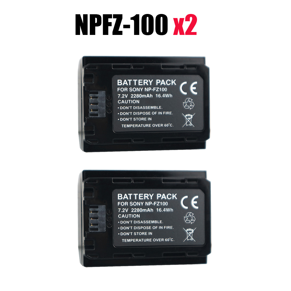 2pcs NP-FZ100 NPFZ100 NP FZ100 battery for sony FZ100 Battery A7R III A7 III BC-QZ1 A9/A9R Alpha9 Alpha9R Alpha 9S A7RM3 camera