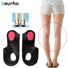 Beurha 1 pair Flat Foot Corrector Gel Insole Cure Flat Feet Pigeon-Toed O/X Leg Arch supports 3 Size Avaible Orthopedic Correct(China)