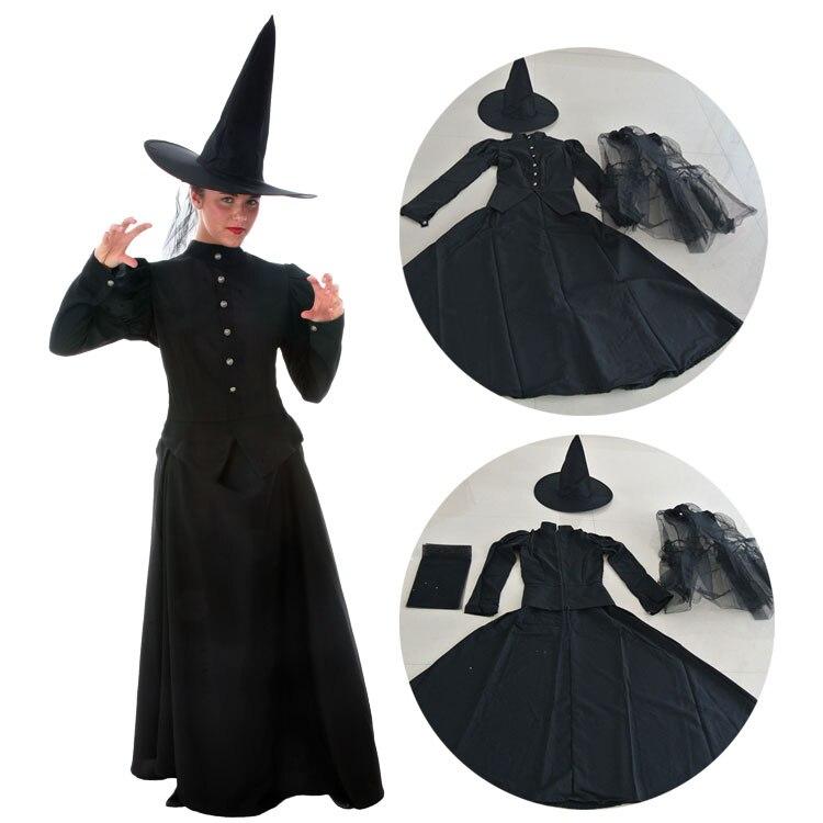 Livraison gratuite le merveilleux assistant d'oz Cosplay sorcière costume ensemble robe et chapeau