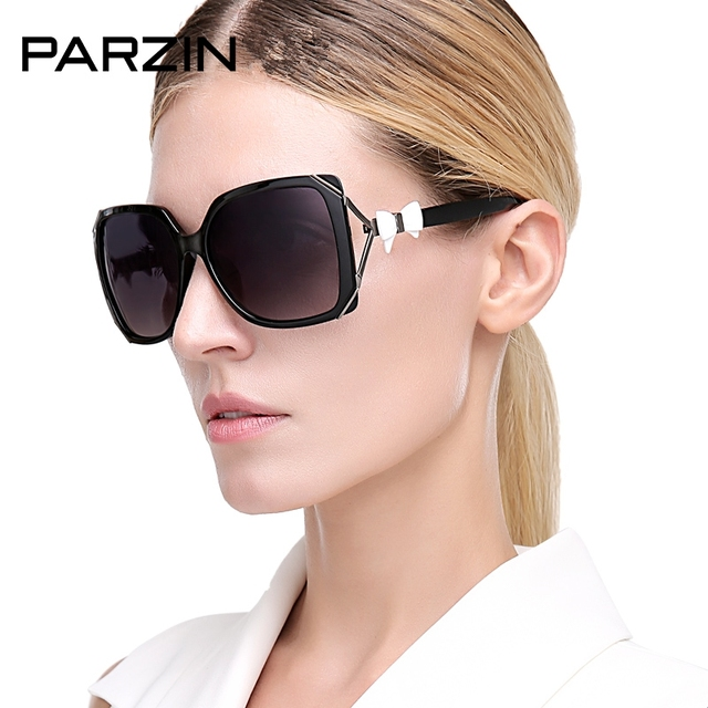 6d434518c3c Parzin Luxury Bow Sunglasses Women Oversized Polarized Sunglasses Black  Summer Shades Female Traveling Sun Glasses With