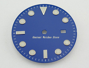Image 4 - 28.5/31.5mm Black/Blue/Green/White Dial Sterile Fit Mingzhu 2813/3804 Movement Mens Watch Accessory