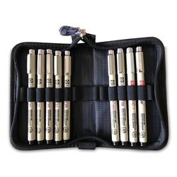Sakura Pigma Micron Liner Pen Fineliners zestaw z futerał do przechowywania czarny cienki długopis wodoodporne długopisy do rysowania Sektch Marker dostaw sztuki w Markery artystyczne od Artykuły biurowe i szkolne na