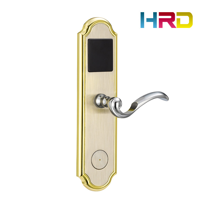 Hotel door lock system stainless steel hotel card lock management software 125khz T5577 rfid card electronic lock for hotel