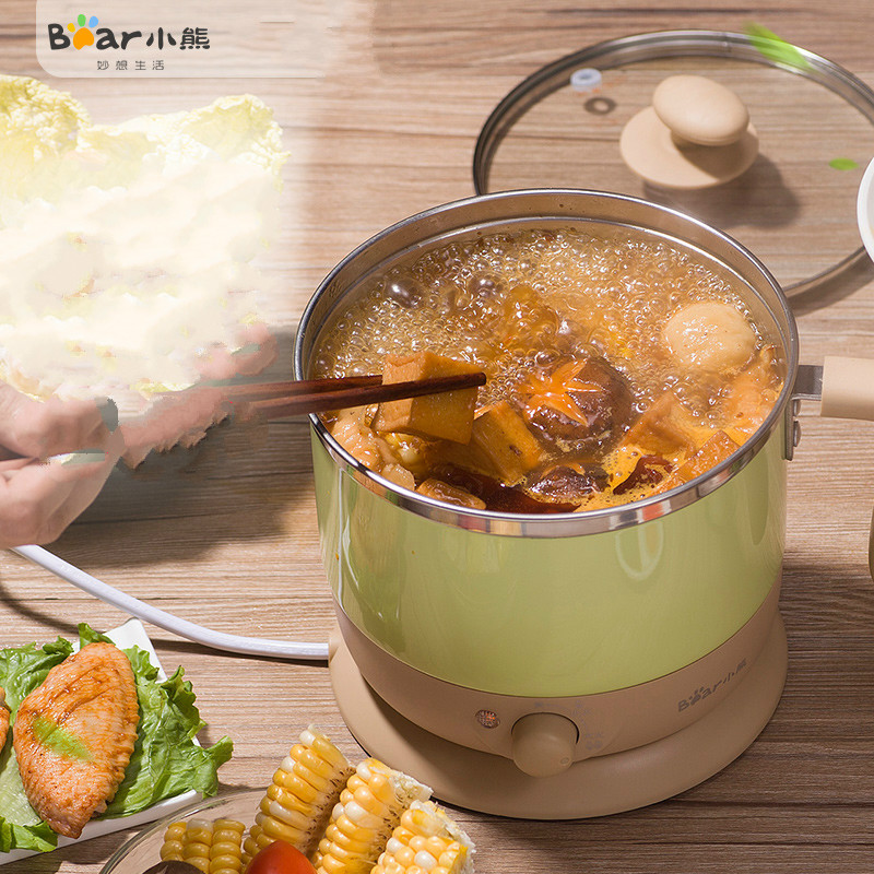 Bear Electric Multi Cooker 600W Electrothermal Cup Dormitory Electric Boiler Electric Hot Pot Noodles midea electric hot pot cooker multi cookers frying pots mc lhn30a