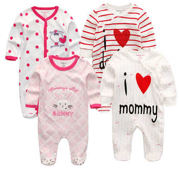 3/4/5Pcs/set 2019 Soft Cotton baby girls rompers Overalls de bebe newborn clothes Long Sleeve Baby Pajamas infantis boy clothing - Category 🛒 Mother & Kids