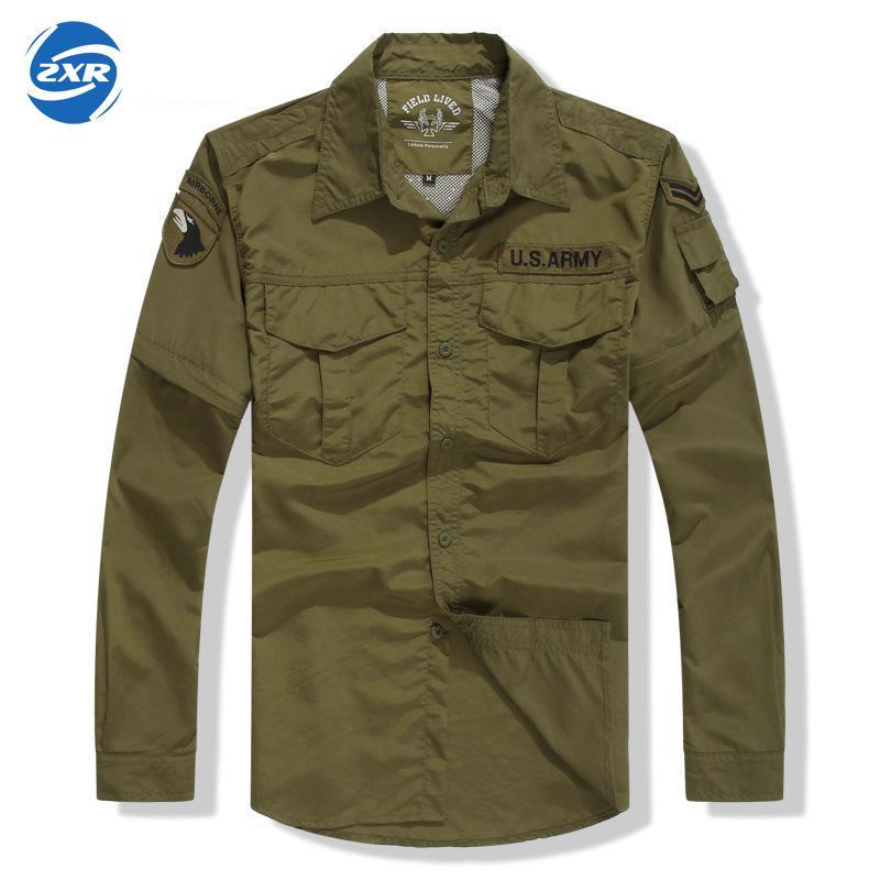 Printemps été armée militaire Fans rapide séchage costume chemise et pantalon hommes double usage sec tactique costume sauvage survie randonnée chemises