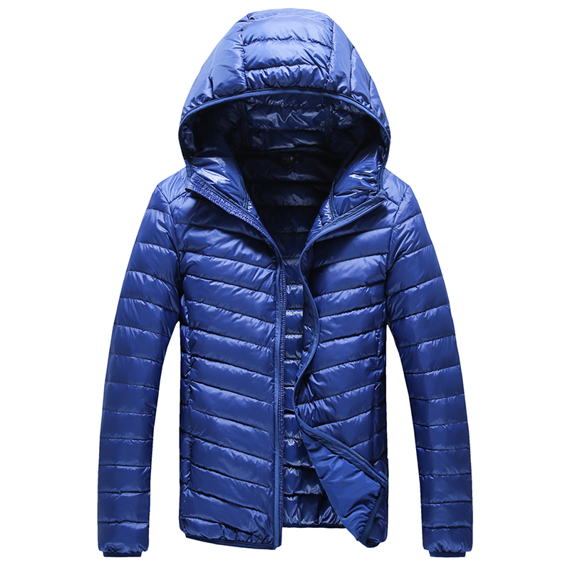 Winter Pure Color Mens Down Jacket Teen Slim Thin Coat LEFT ROM Hot New Men Jacket Warm and Comfortable Multi-color Choice 3XL