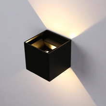 IP65 12W Modern Brief Cube Adjustable Surface Mounted Outdoor LED Wall Light,Waterproof Wall Sconce Lamp For Corridor Garden