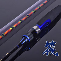 Raft fishing rod sets of carbon fishing rod titanium alloy rod slightly 1 or 2 tips of All or half titanium alloy options
