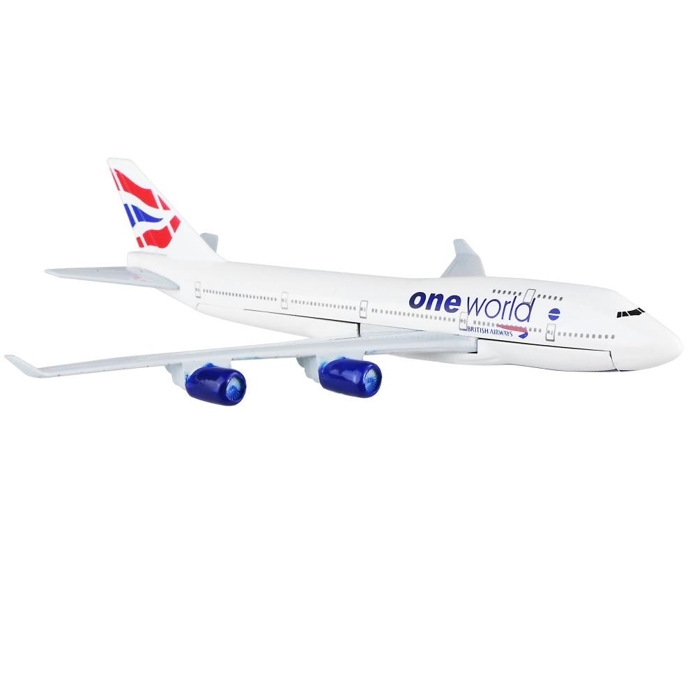 British Airways Boeing 747- 400 british wheel 16cm alloy metal airplane models child Birthday gift plane models Free Shipping