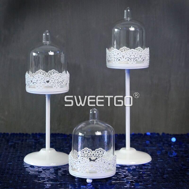 SWEETGO Mini Cupcake, tort ev partiyası bəzək üçün ağ şam - Mətbəx, yemək otağı və barı - Fotoqrafiya 5