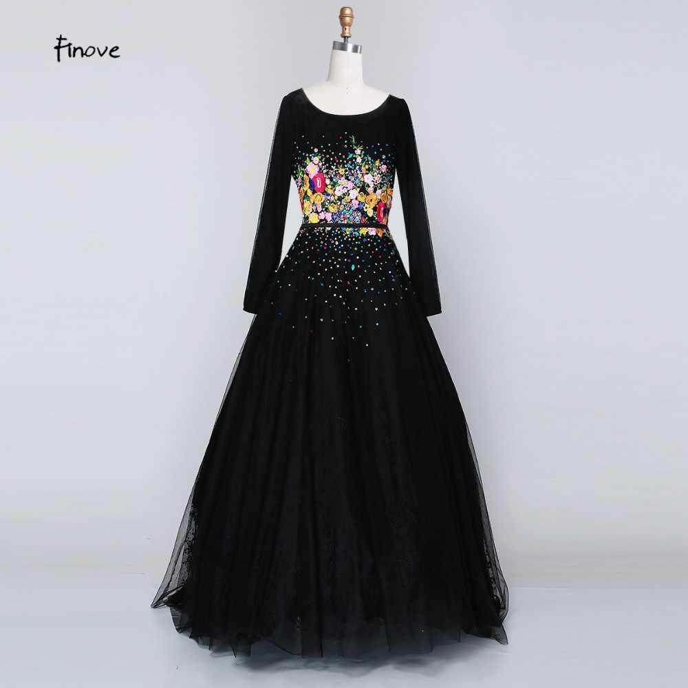 60dcbd6bc21d3 Women Long Black Prom Dress 2019 Sexy Tank Sleeveless Lace Tulle Appliques  Party Gown Formal Evening Dress Vestido De Festa