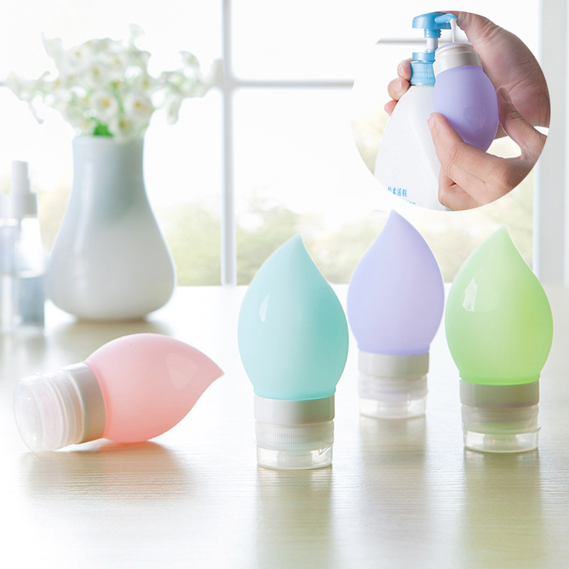 75ml Refillable Bottles Cosmetics Silicone Peach Shape Facial Cleanser Shampoo Press Containers Travel Protable Tool FM8 недорого