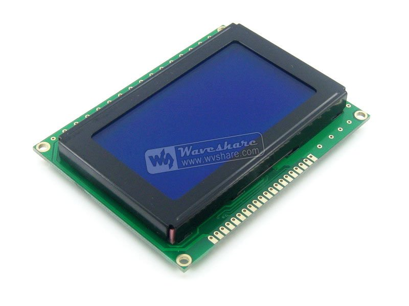 Parts Graphic Matrix LCD 12864 LCM Display Module128*64 DOTS, White Character, Blue Backlight, 5V For Logic Circuit Blue Backlig