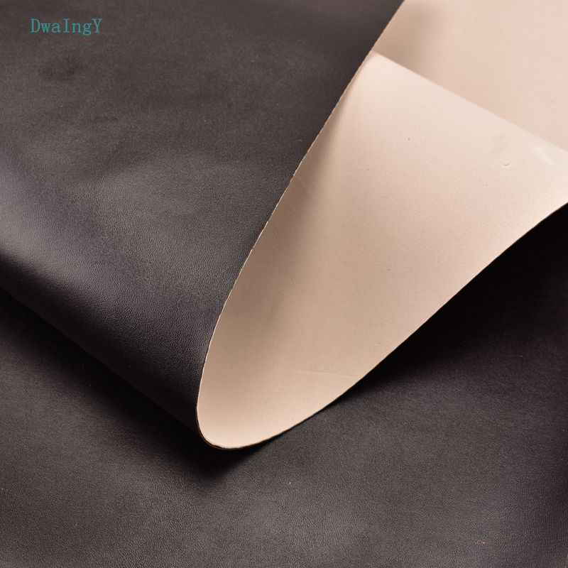 DwaIngY Black color composite PU Two in one Synthetic Faux Leather fabric For Patchwork DIY&Sewing Quilting sofa bag material