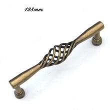 128mm vintage birdcage handle bronze kitchen cabinet drawer pull handle antique brass dresser cupboard door handle