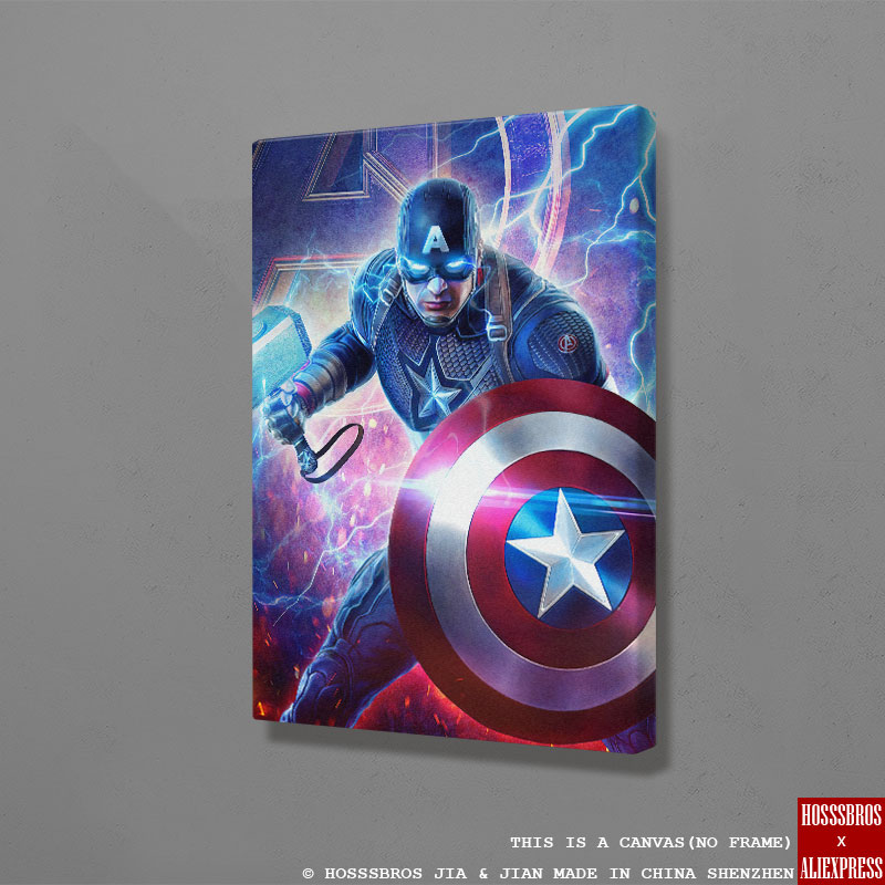 Captain America marvel Poster Wall Art Canvas For kids Teens Living Room Home Bedroom Study Dorm room Art Decoration Prints image