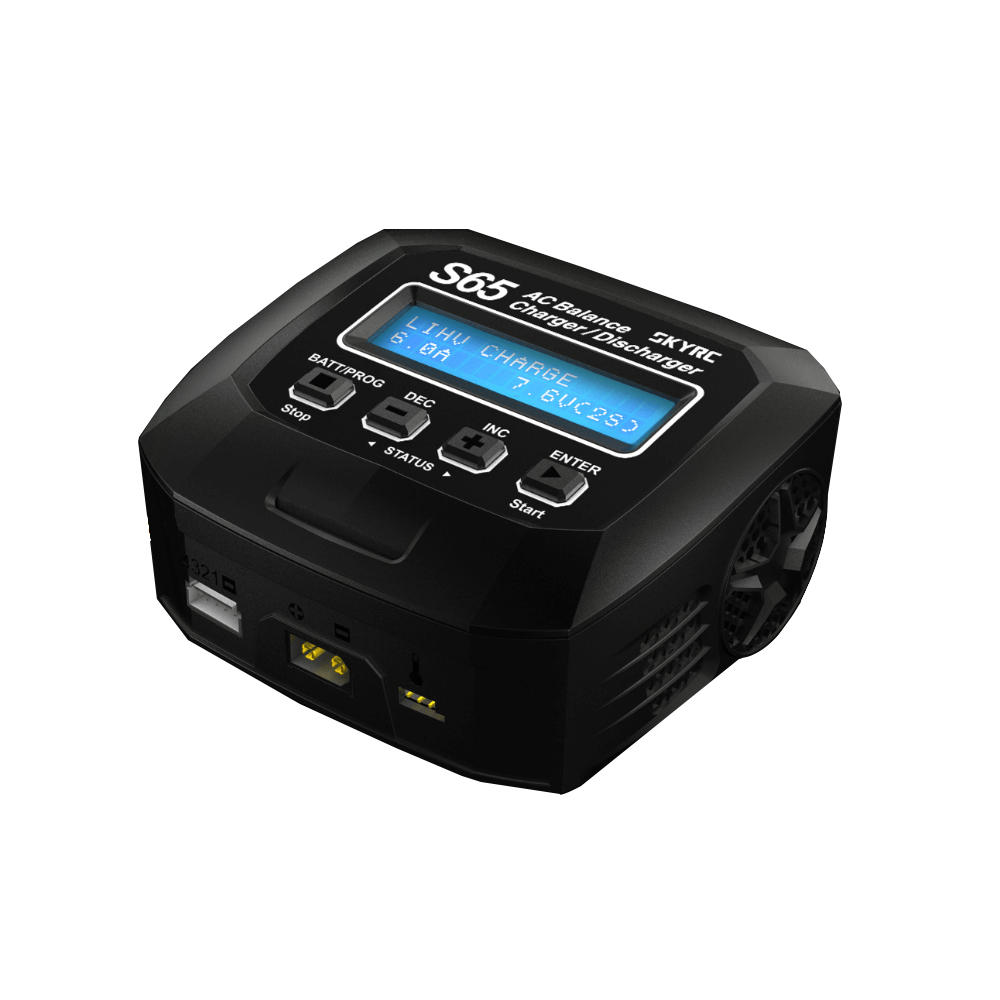 SKYRC S65 65W 6A AC Balance Lipo Charger Discharger for 2 4S Lipo Battery RC FPV