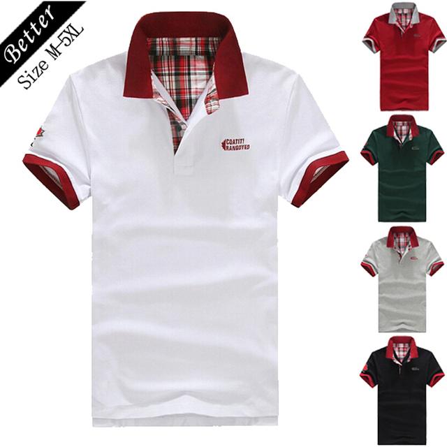 2016 camisa de polo homme hombres de la moda de verano marca polo sólido camisas de polo de manga corta tops Casual ropa de los hombres más tamaño M-5XL