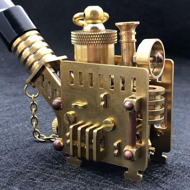 Handmade 240g Brass Craft Steampunk Lighter with Pipe3