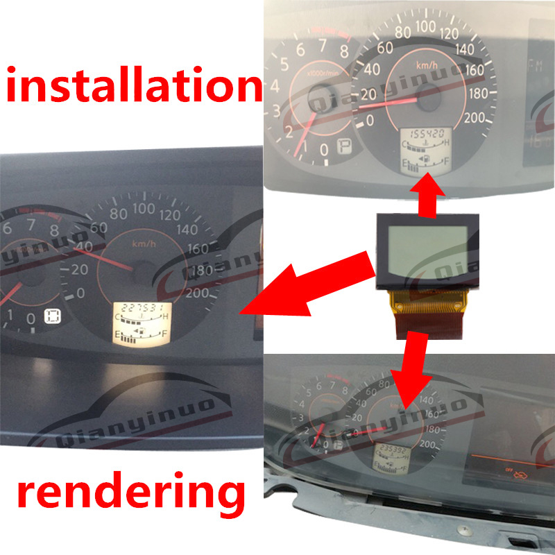 US $29 99 |Qianyinuo Dashboard New LCD Display For Nissan Quest LCD Screen  Instrument Cluster Pixel Repair-in Gauge Sets & Dash Panels from