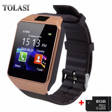 Bluetooth Smart Watch Smartwatch DZ09 Android Telefon Call Relogio 2G GSM SIM TF Kortkamera för iPhone Samsung HUAWEI PK GT08 A1