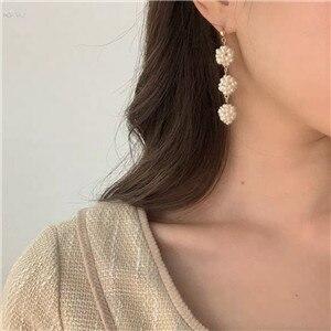 AOMU-Korea-Natural-Freshwater-Pearl-Ball-Earring-S925-Sterling-Silver-Pin-Long-Drop-Earring-For-Women