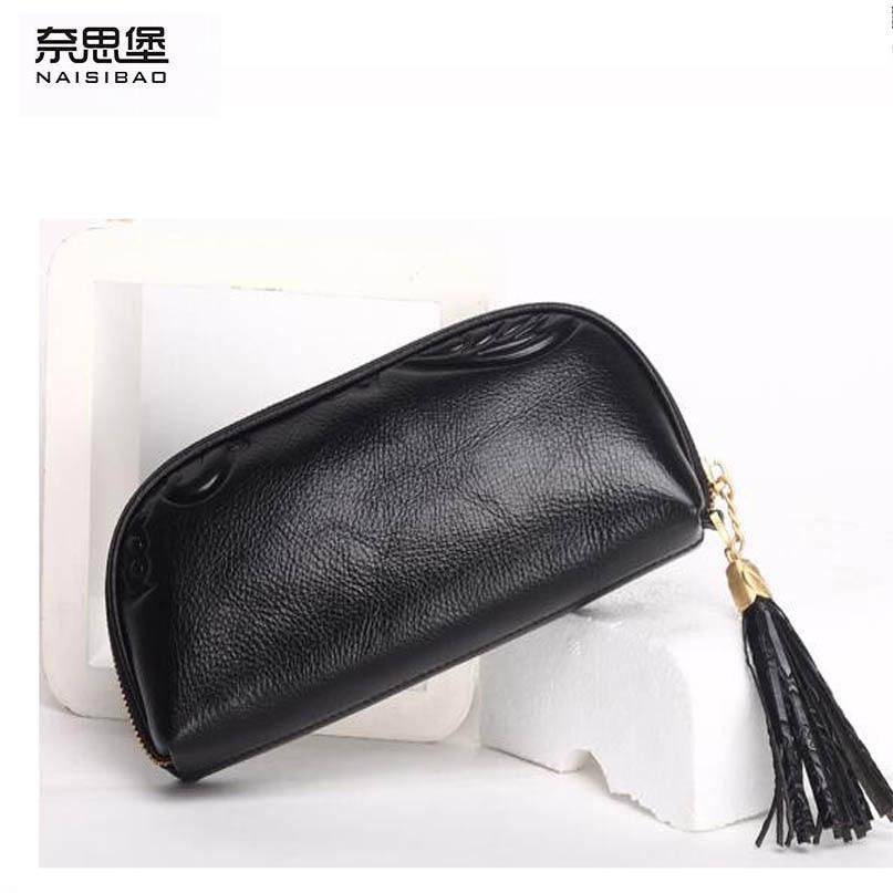 Фотография NAISIBAO2018 New luxury fashion 100% high-quality wild large capacity leather handbag ladies small bag leather clutch bag