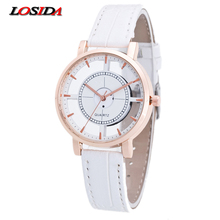 Hot Sale Quartz Ladies Watches Brand Losida Leather Strap New Dress Fashion Womens Sports Watches Hour Relogio Feminino for Gift