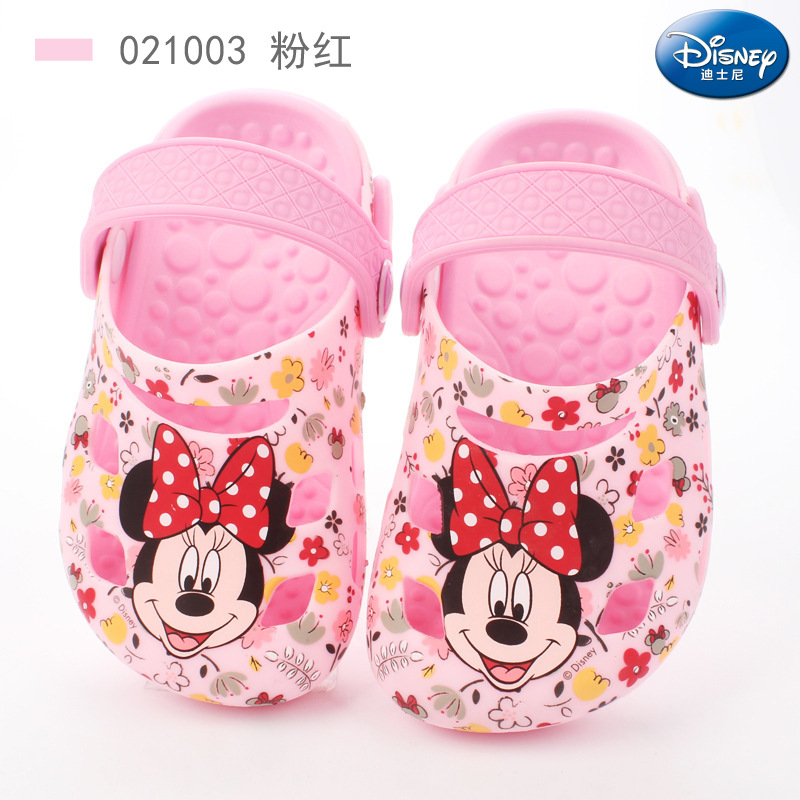 2019 summer new Disney childrens hole shoes boys soft bottom non-slip silicone shoes girls sandals and slippers2019 summer new Disney childrens hole shoes boys soft bottom non-slip silicone shoes girls sandals and slippers