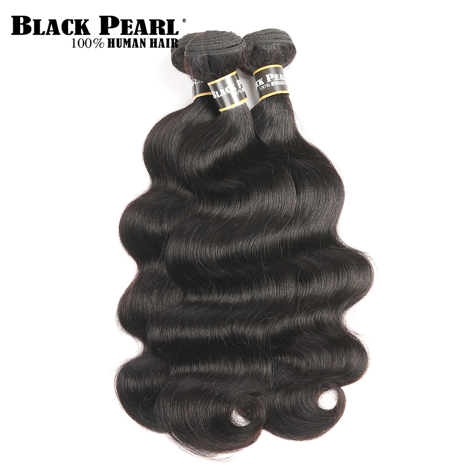 Black Pearl Pre-Colored Body Wave Human Hair Bundles 3pc Human Hair Extensions Hair Weave Bundles Deal Non-Remy