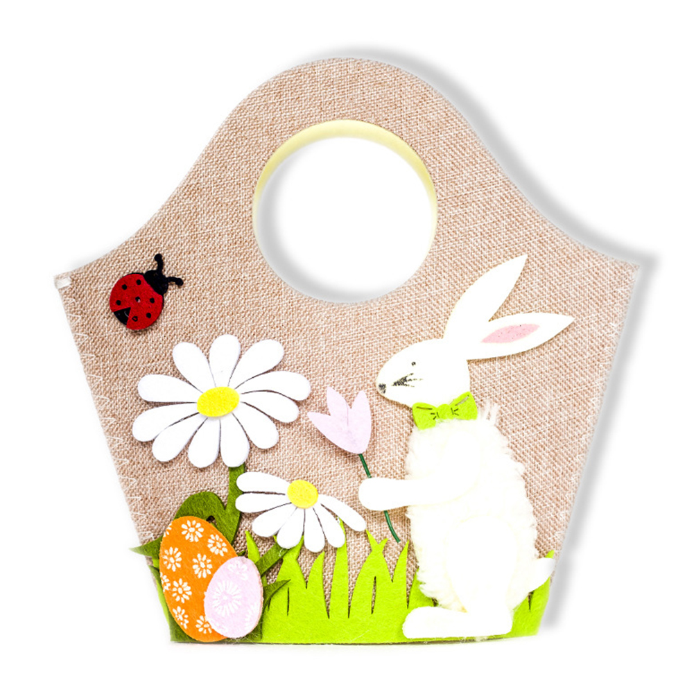 Handbag Flower Candy Storage Gift Decoration Cute Easter Bunny Egg Basket Rabbit Home Decor Kids Toy Party Supplies Functional Bags Shopping Bags