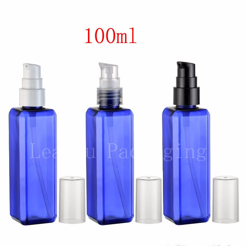 100ml-blue-square-bottle-with-cream-pump