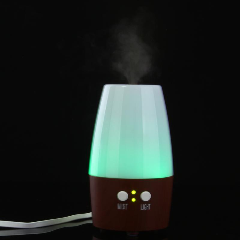 High Oil Diffuser 100ml Ultrasonic Aroma Portable air humidifier Mini Aromatherapy Diffuser with Warm LED Light Free Ship