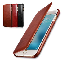 Icarer Brand For IPhone 7 Case Luxury Curved Edge Vintage Genuine Leather Phone Bag For Apple