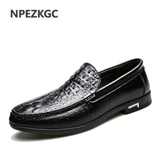 NPEZKGC Fashion Casual Driving Shoes Genuine Leather Loafers Business Men Shoes Men Loafers Luxury Flats Shoes Men