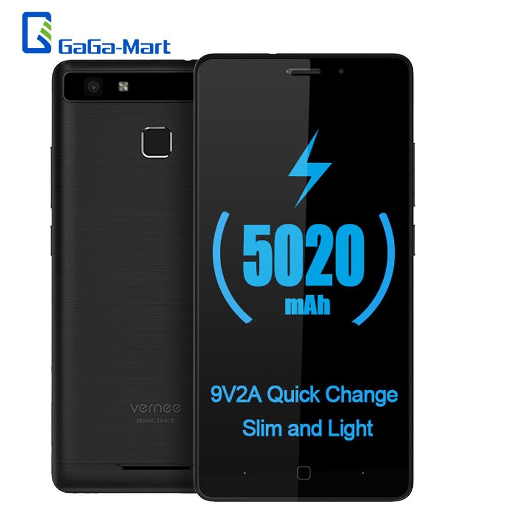 bilder für Original 5020 mAh Vernee Thor E 4G LTE Smartphone Android 7.0 MTK6753 Octa-core 3 GB RAM + 16 GB ROM 5MP + 8MP 5,0 Zoll Mobile telefon