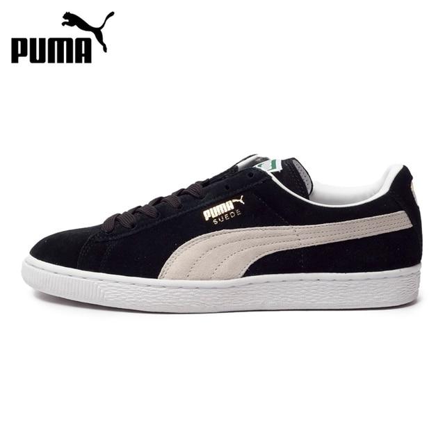 Nova Chegada Original 2018 PUMA Suede Clássico + Unissex Sapatos de Skate  Tênis d629c9034ee92